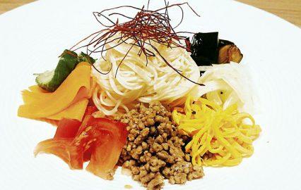 七色 黒酢素麺