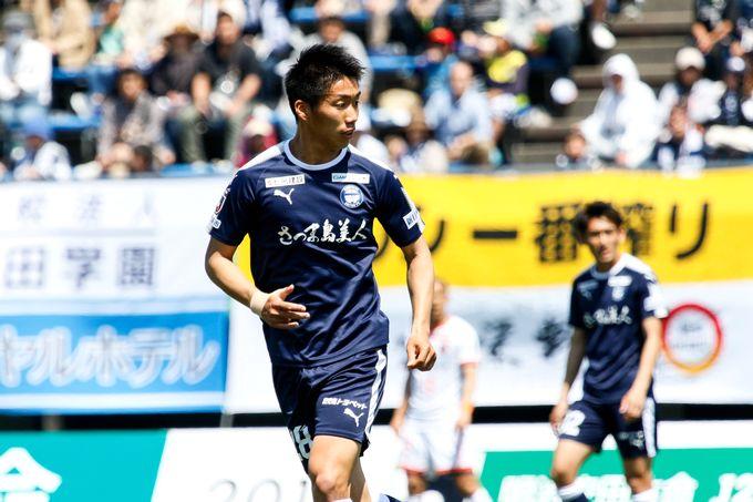 鹿児島ユナイテッドFC:FW/韓勇太選手プレー中