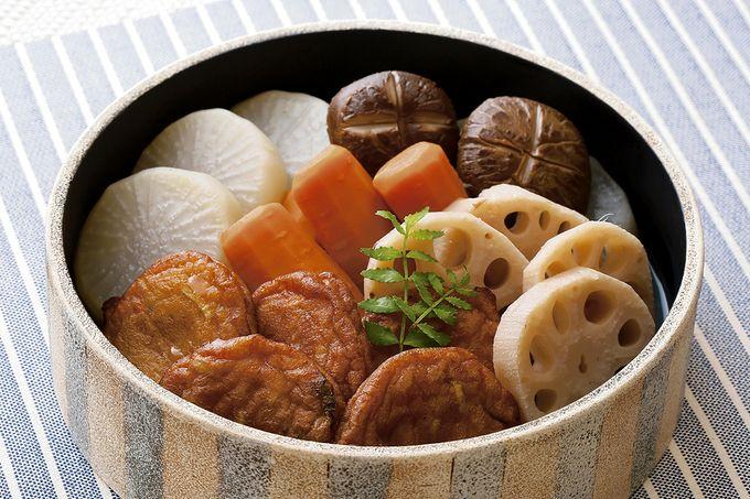 野菜天と根菜の京風煮物