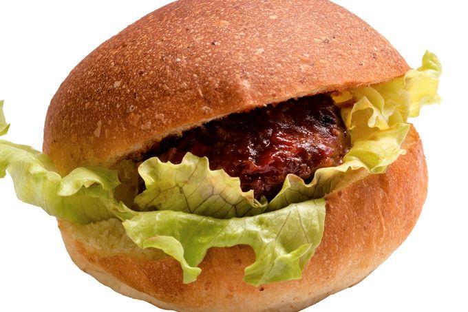 手作りハンバーグのハンバーガー