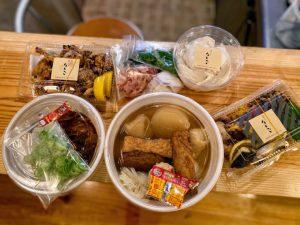 おでんや唐揚げなど総菜のテイクアウト品