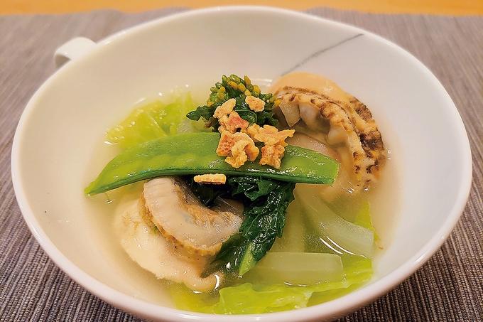 春野菜たっぷりホタテのスープ