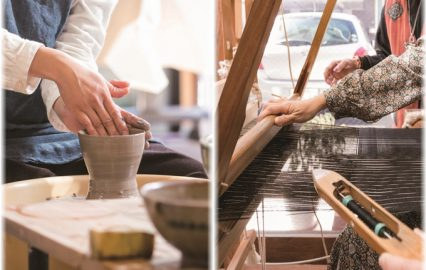 世界に誇る名品、薩摩焼と大島紬。鹿児島の伝統工芸を体験