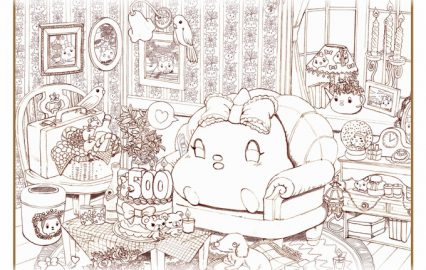 古い記事: ふ~ちゃんぬり絵台紙ダウンロードはコチラから。作品発表会も開