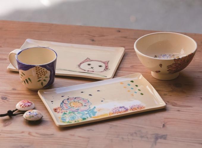美山陶遊館の体験作品