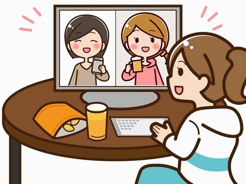 オンライン飲み会イメージ