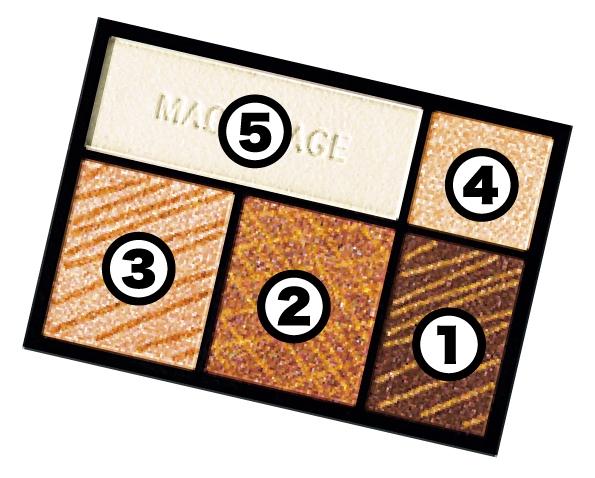 ドラマティックスタイリングアイズ OR303 写真上でのパレット番号