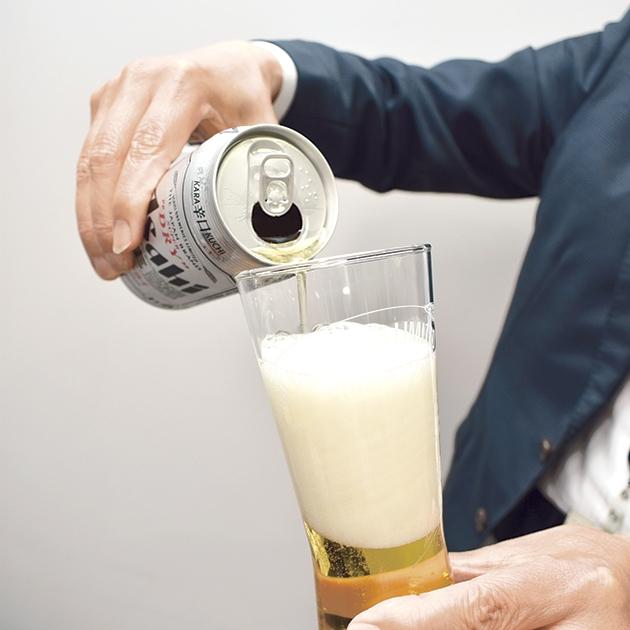 ビールの注ぎ方②