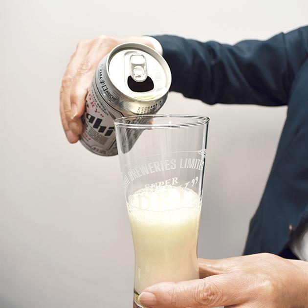 ビールの注ぎ方①