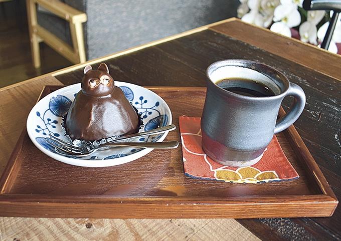 豆屋十六・たぬきのケーキセット