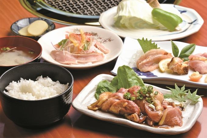 地鶏の里 永楽荘「地元鶏焼き定食」