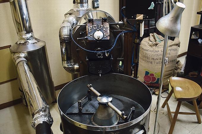 珈琲いづみ コーヒー豆の焙煎機