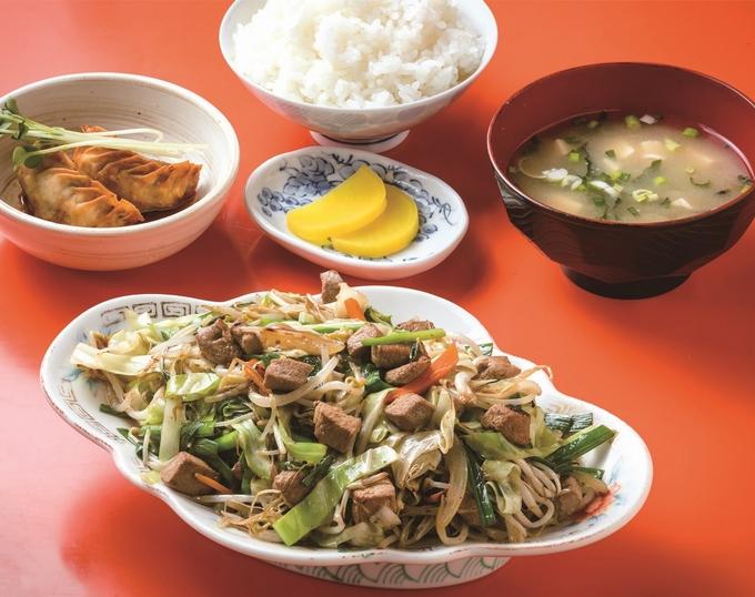 大衆中華 蘭蘭「レバニラ定食」