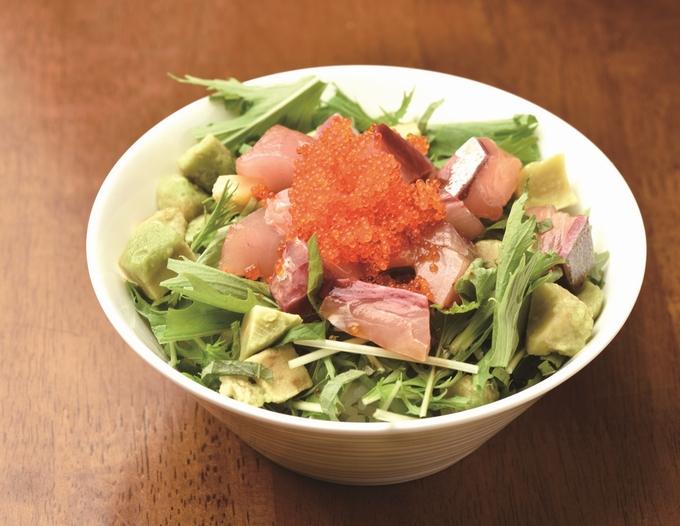 冠八屋「カンパチポキ丼定食」