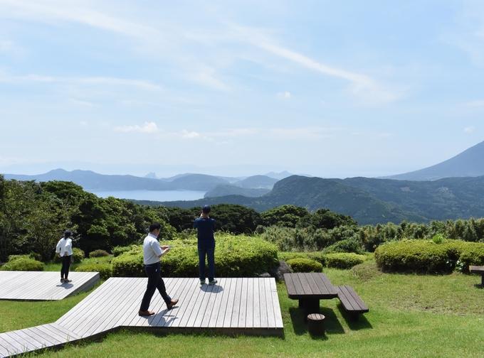 大野岳 茶寿階段途中の景色