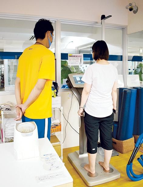 メルヘンスポーツ鹿児島でタニタの体組成を使う