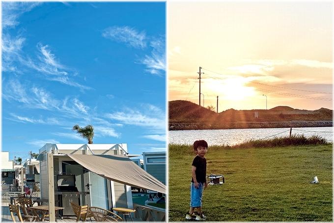 吹上浜フィールドホテル 秋空と夕焼け