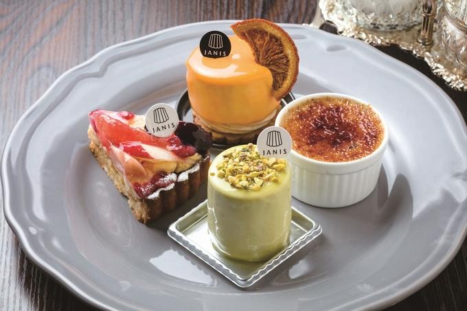 ジャニス洋菓子店 やみつき「ジャスミンブリュレ」、ピスタチオのムースを使用した「ジャニス」