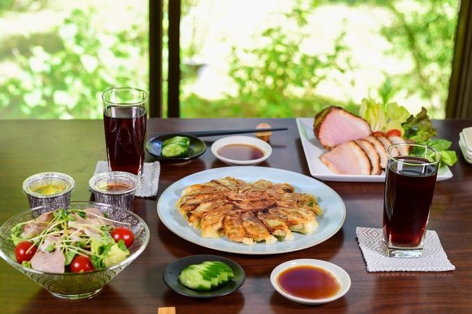 ビッグファイブ「餃子」「黒豚の切り落とし肉」「かじはらプリンオリジナル冷凍プリン」