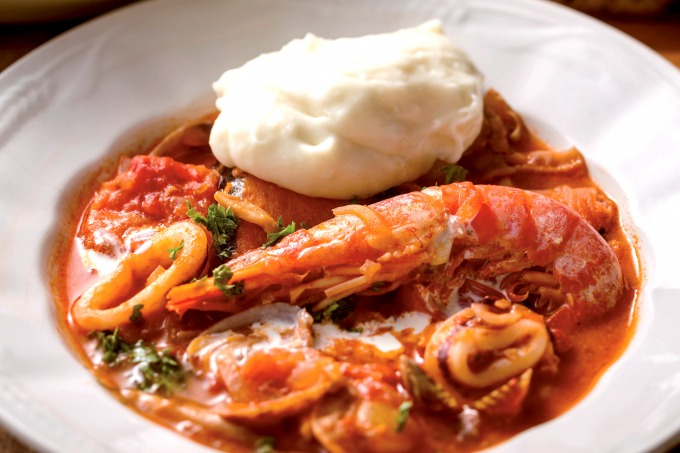 家ごはん 海鮮トマトクリーム煮