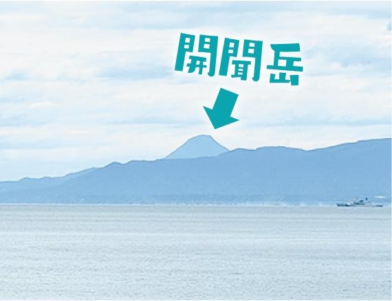 錦江湾から開聞岳を望む