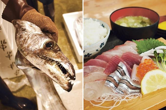 早朝の鹿児島市魚類市場を探検してみた。お魚いっぱい、グルメも発見