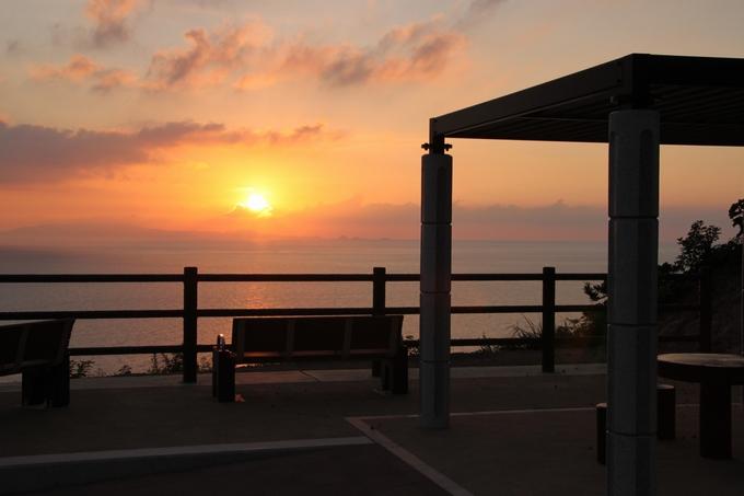 串木野サンセットパークの夕日