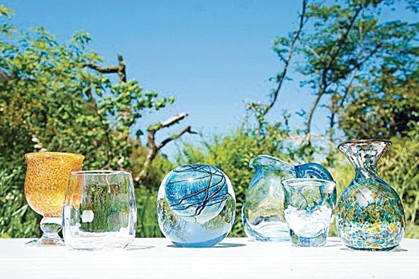鹿児島のガラス作家6人展昨年の作品展