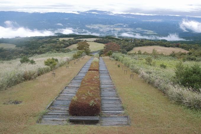 栗野岳レクリエーション村 日本一の枕木階段からの絶景