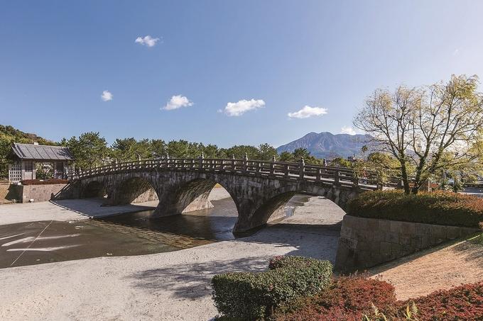 石橋記念公園から望む桜島