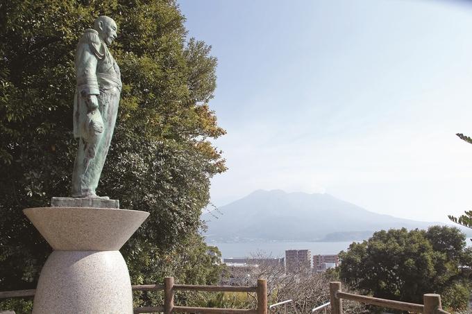 多賀山公園から望む桜島