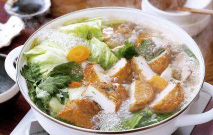 野菜天の塩ちゃんこ鍋