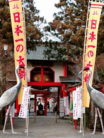 箱崎八幡神社「神門の鶴」