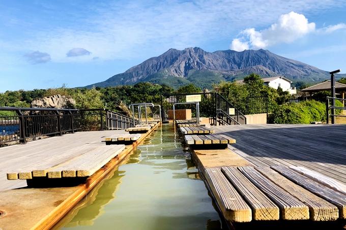 桜島 なぎさ公園の足湯