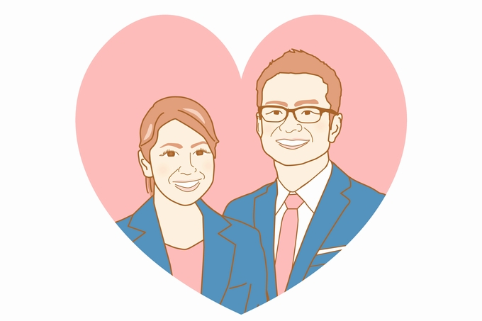縁サポートJin 井手泰孝さん・基子さん夫妻のイラスト