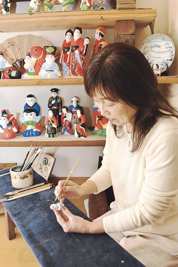 帖佐人形作り手の折田貴子さん