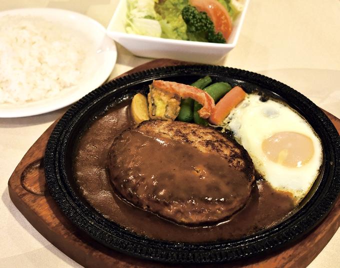 西洋亭 ひろはま「黒毛和牛黒豚ハンバーグステーキ」