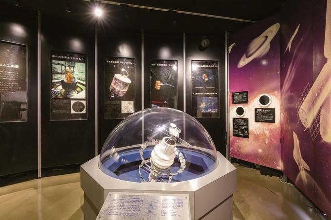 JAXA内之浦宇宙空間観測所「宇宙科学資料館」人工衛星のモデルなど