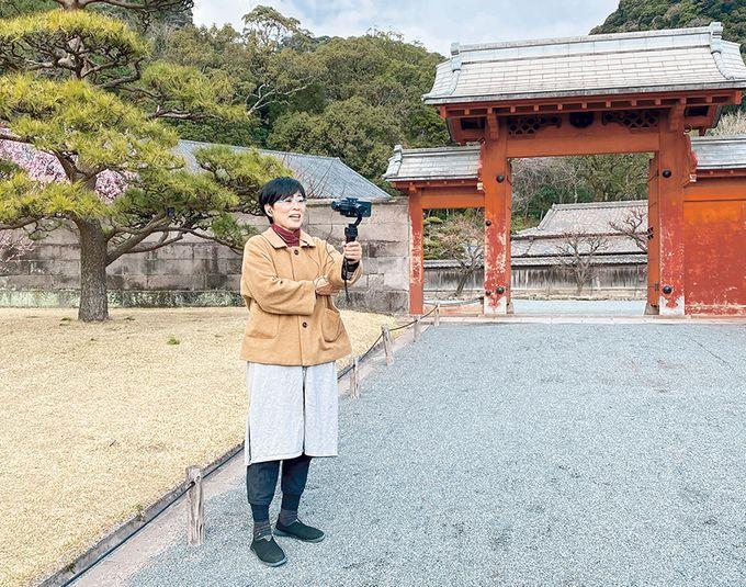 名勝 仙巌園「通訳案内士・堀切美貴子さん」