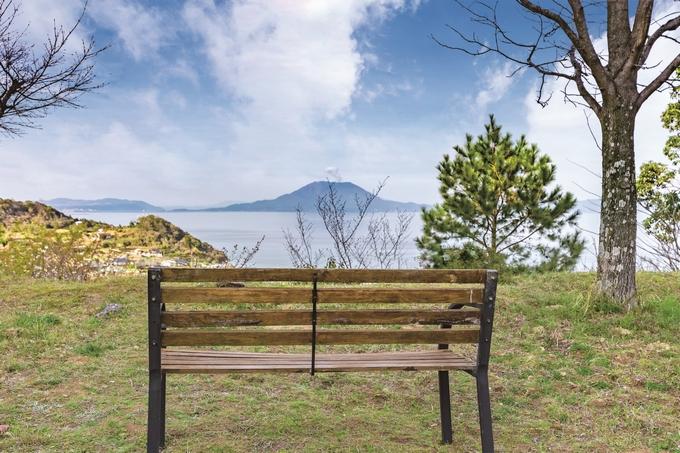 さーどすとーんから望む桜島