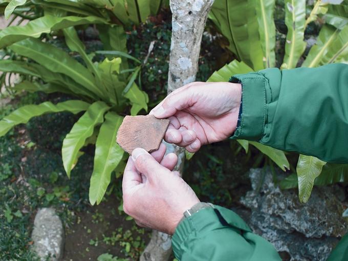 武家屋敷群の一角で出土した弥生時代の土器