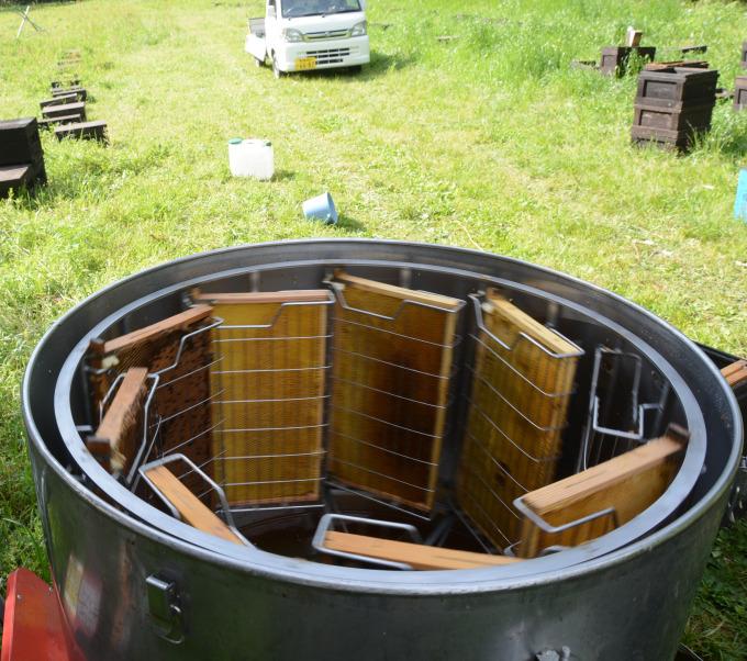 新屋養蜂場「遠心分離器」