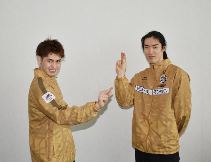 鹿児島レブナイズ永山選手と藤田選手
