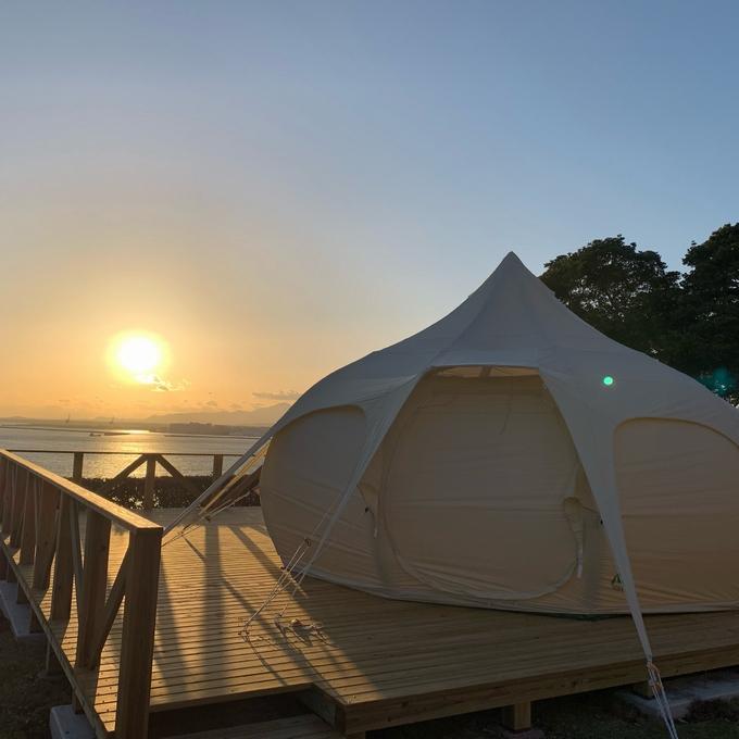 国民宿舎 ボルベリアダグリ「施設から望む夕日」