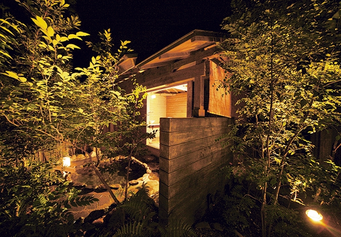 手塚ryokan「野天風呂付客室103の露天風呂」