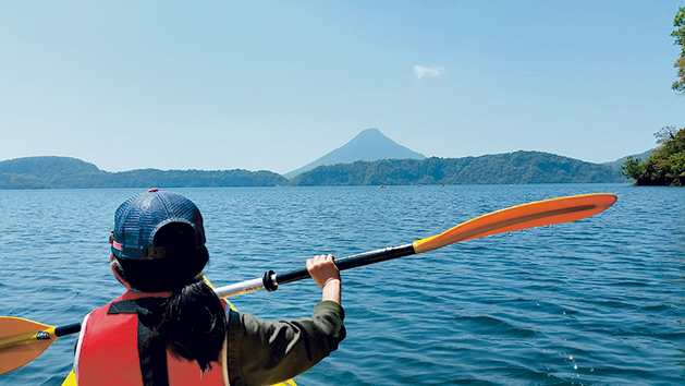 池田湖でシーカヤック