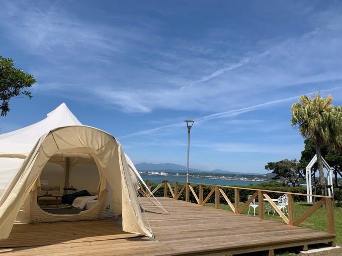国民宿舎 ボルベリアダグリ「グランピング施設のテント」