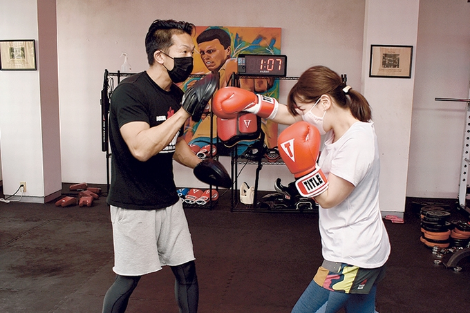 ナインカウントボクシング&フィットネスに道場やぶり