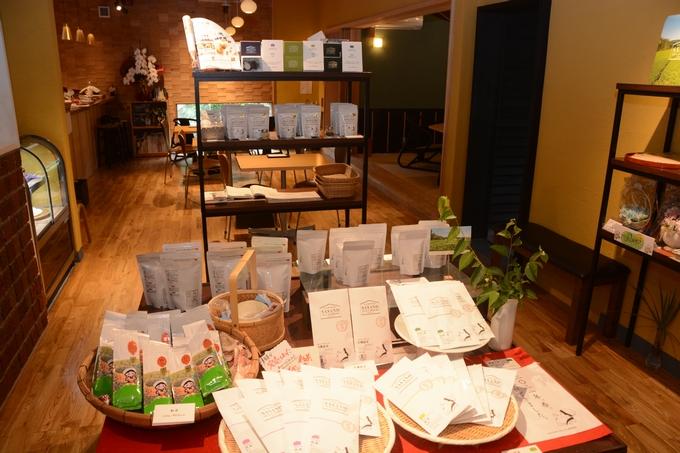 茶寮ささの「笹野製茶の製品」