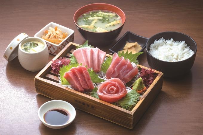漁協直営 川内とれたて市場薩摩海食堂「マグロ刺身定食」